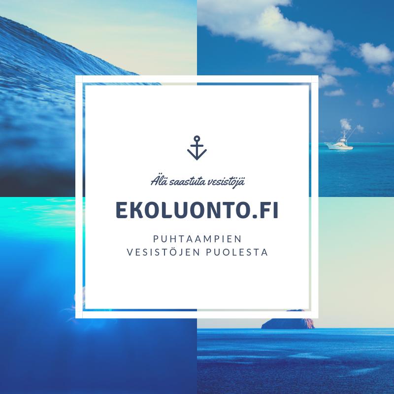 Älä saastuta vesistöjä. | ekoluonto.fi | Puhtaampien vesistöjen puolesta.